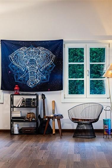 home-bath Duvar Örtüsü Elephant Renkli